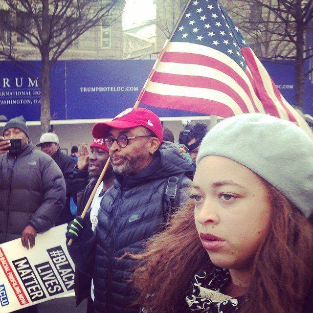 Filmmaker Spike Lee participates in a march onthe U.S. Capitol on Dec. 13, 2014.