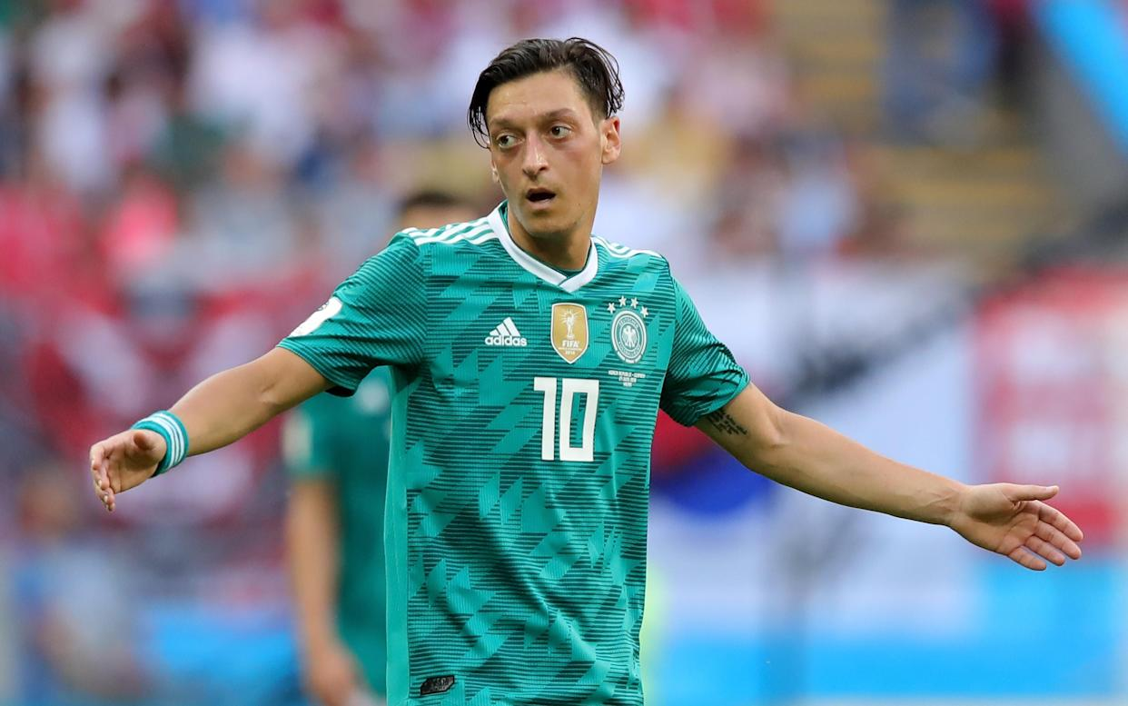 Mesut Ozil during the 2018 FIFA World Cup Russia group F match between Korea Republic and Germany at Kazan Arena on June 27, 2018 in Kazan, Russia.