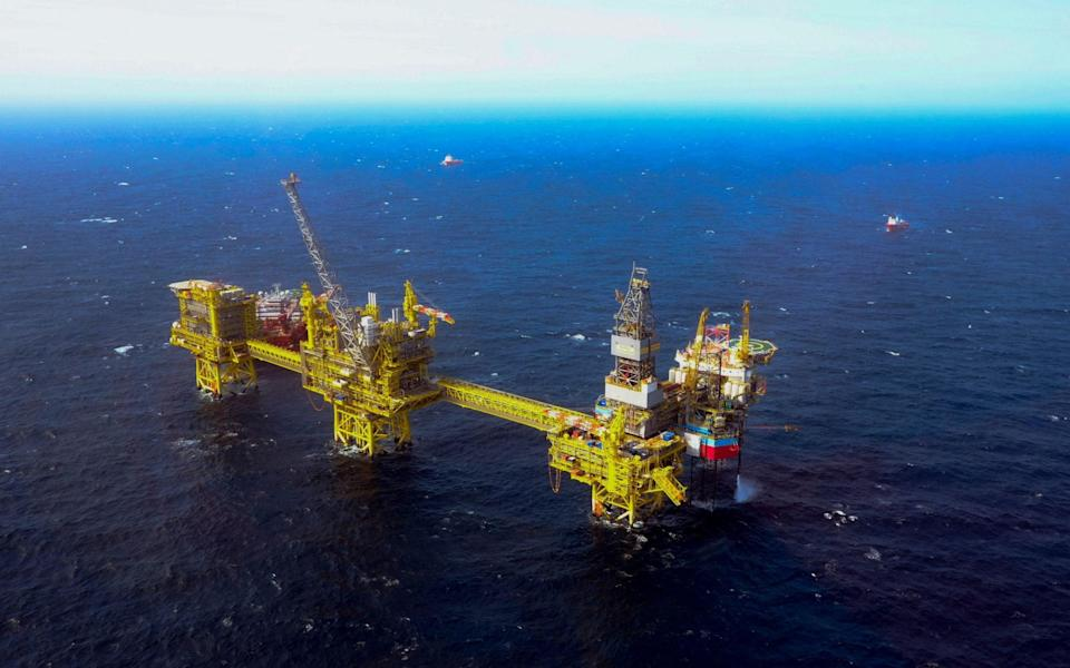 The Total Culzean platform in the North Sea, about 45 miles east of the Aberdeen - ANDY BUCHANAN/AFP