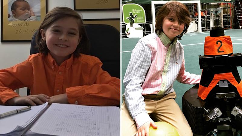 Laurent Simons is just nine-years-old and is set to graduate university in December this year, after starting his course at just eight-years-old. Source: Instagram - Laurent Simons.