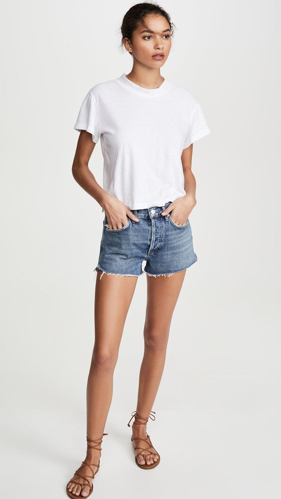 <p>These <span>Agolde Parker Vintage Cutoff Shorts</span> ($128) are go-tos all summer long. I'll be wearing them everywhere.</p>