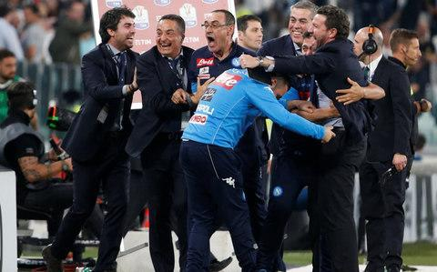 """Kalidou Koulibaly scored a late winner to help Napoli win 1-0 at Juventus and reignite the Serie A title race on Sunday. Napoli trailed Juventus by six points last weekend but the Bianconeri drew at Crotone midweek, and two straight wins for Maurizio Sarri's team slashed the lead to a solitary point with four rounds left. """"We have always believed in the title, we have to continue like this and believe in ourselves until the end,"""" Koulibaly said. It was Juve's first league defeat at home since a 2-1 loss to Lazio in October. Its last Serie A defeat in Turin before that was in August 2015. """"Winning here was practically mission impossible, we can be happy because we have played against a great team which hasn't lost at home for so long,"""" Koulibaly said. Juventus arguably has the tougher run-in as it faces Champions League-chasing Inter and Roma as well as Bologna and Hellas Verona. """"Yet another twist in the most compelling of Serie A seasons!"""" • Tears of joy �� • Limbs everywhere �� • Fist pumping �� Just look at what it means to Napoli after a massive, massive win in Turin. pic.twitter.com/TjwrYsLx0K— Football on BT Sport (@btsportfootball) 22 April 2018 Napoli plays Fiorentina, Torino, Sampdoria and Crotone. """"We mustn't make calculations, they're useless,"""" Juventus coach Massimiliano Allegri said. """"We just have to put this defeat behind us and prepare for the match in Milan. """"It's true that Napoli is favorite because of the fixture list but matches have to be won. I have seen a lot in football ... anything can happen."""" Earlier, Ciro Immobile scored twice as Lazio beat Sampdoria 4-0 to keep pace with Roma and ahead of Inter Milan in the race for Champions League spots. Lazio remained level on points with third-place Roma and a point ahead of Inter, which struggled but won 2-1 at Chievo Verona. None of the teams can catch either Napoli or Juventus. Maurizio Sarri leads the celebrations on the touchline Credit: Reuters Napoli were aiming to boost its dream of a first ti"""