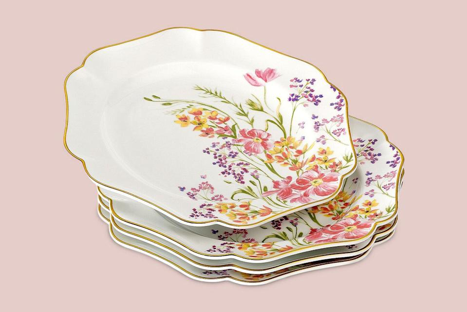 stacked martha stewart collection easter floral salad plates