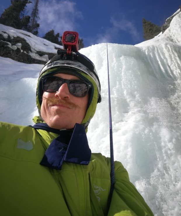 'The ice was beautiful. It was a great time. We all had a lot of fun,' said David Turcotte, who, along with some friends, climbed the ice at Yukon's 60-metre-high Million Dollar Falls last weekend. (Submitted by David Turcotte - image credit)