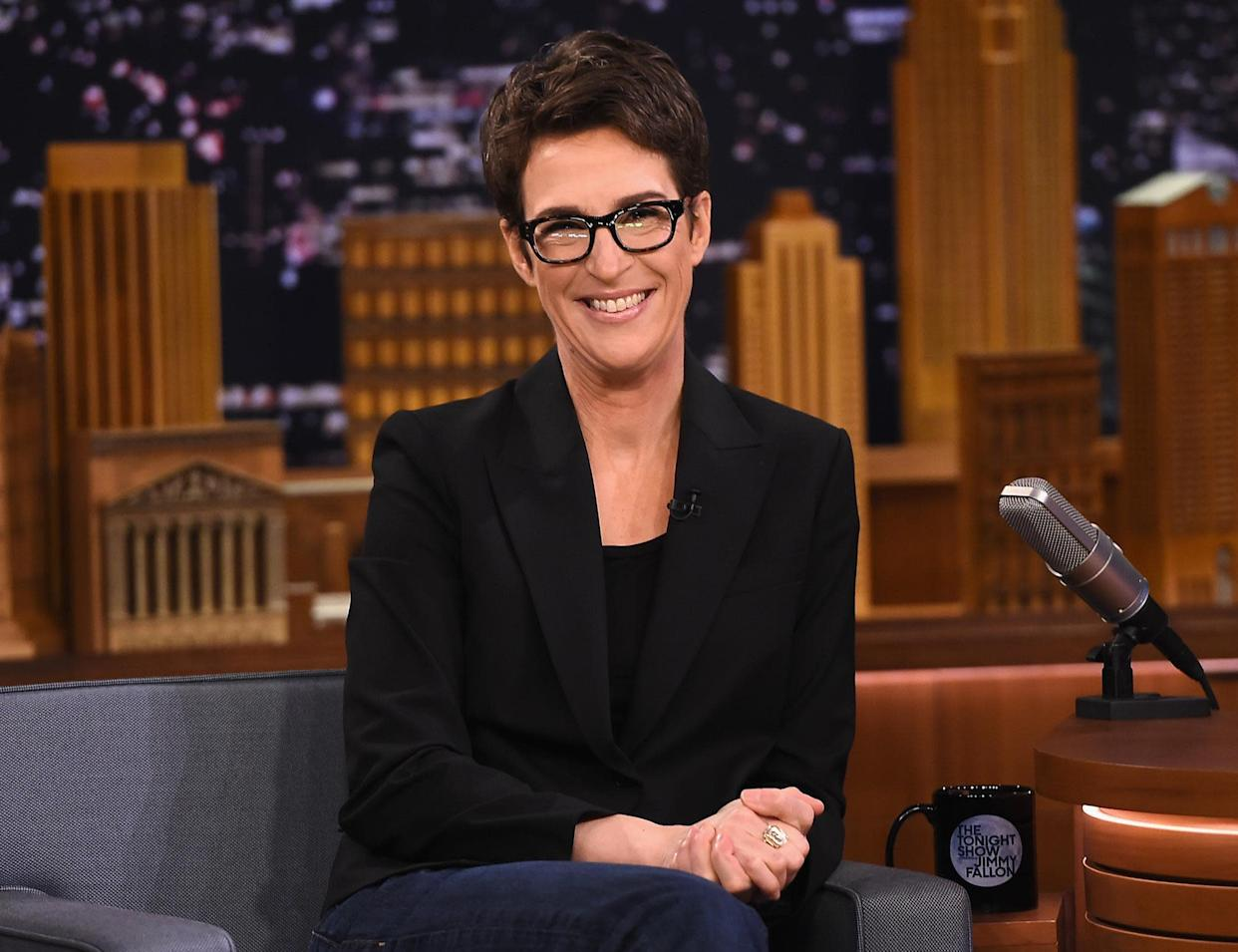 """Rachel Maddow Visits """"The Tonight Show Starring Jimmy Fallon"""" at Rockefeller Center: Getty Images for NBC"""