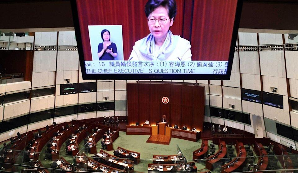 Carrie Lam had been speaking in Legco. Photo: K. Y. Cheng