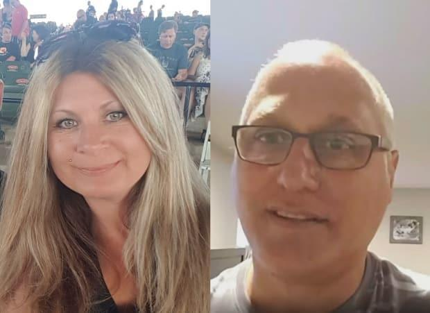 Canadians Bronwen Stenger, left, and Luc Noel separately bought tickets for concerts in Michigan before the pandemic. It's taken more than one year and emails by CBC News for each to see refunds. (CBC - image credit)