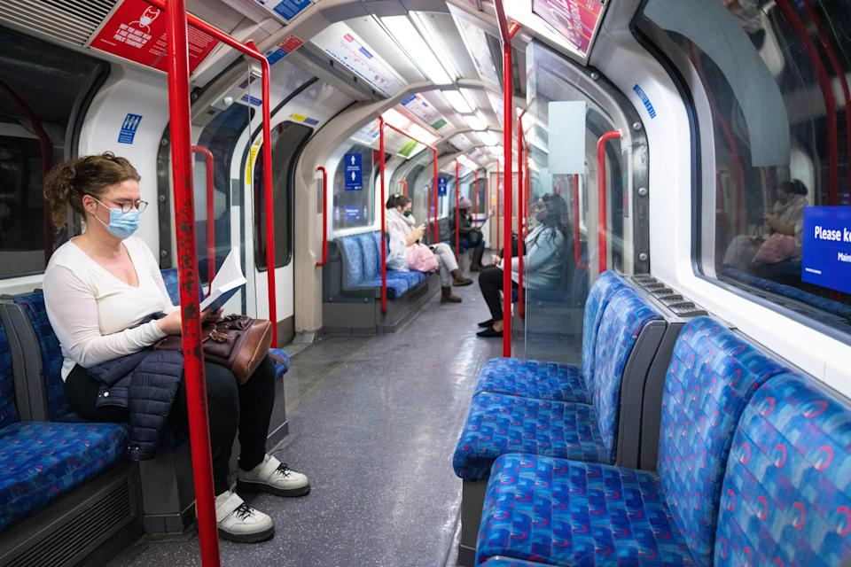 A nationwide survey found that 62 per cent of respondents said they wouldn't use public transport unless fellow passengers were required to wear masks (PA Wire)