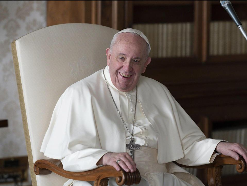 <p>Pope Francis's Instagram account has liked a Brazilian model's Instagram post</p> (EPA)