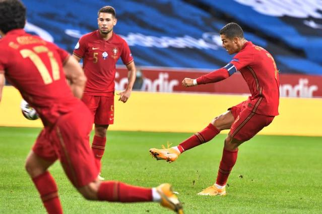 Soccer Ronaldo Scores 100th Goal For Portugal