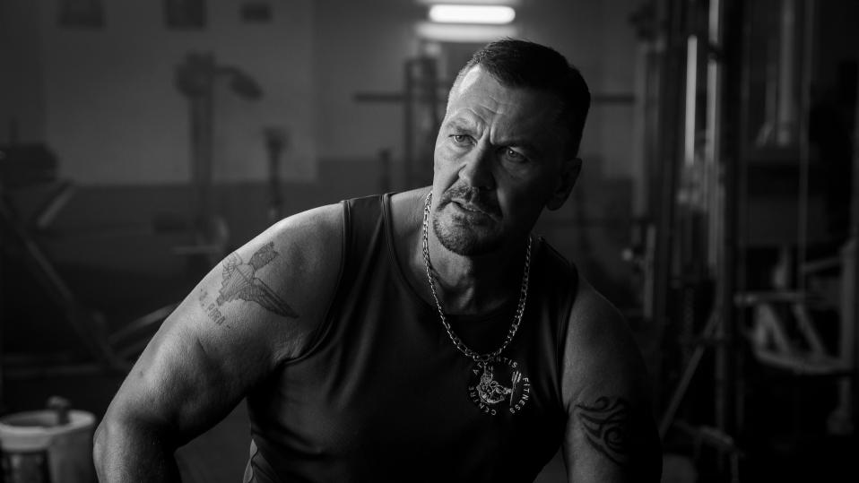 Craig Fairbrass as the mysterious personal trainer Terry in 'Muscle'. (Credit: Dazzler Media)