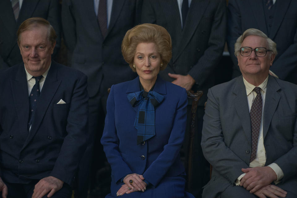 <p>Gillian Anderson as Mrs Thatcher in The Crown</p> (Des Willie/Netflix)