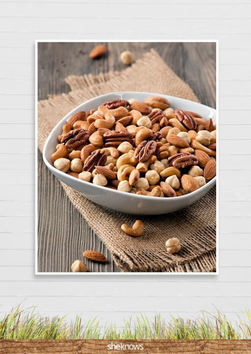 Plain or flavored, mixed nuts are full of protein to give kids energy on a big day.