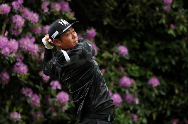 Golf - European Tour - BMW PGA Championship - Wentworth Club, Virginia Water, Britain - May 24, 2018 Japan's Hideto Tanihara in action during the first round Action Images via Reuters/Peter Cziborra