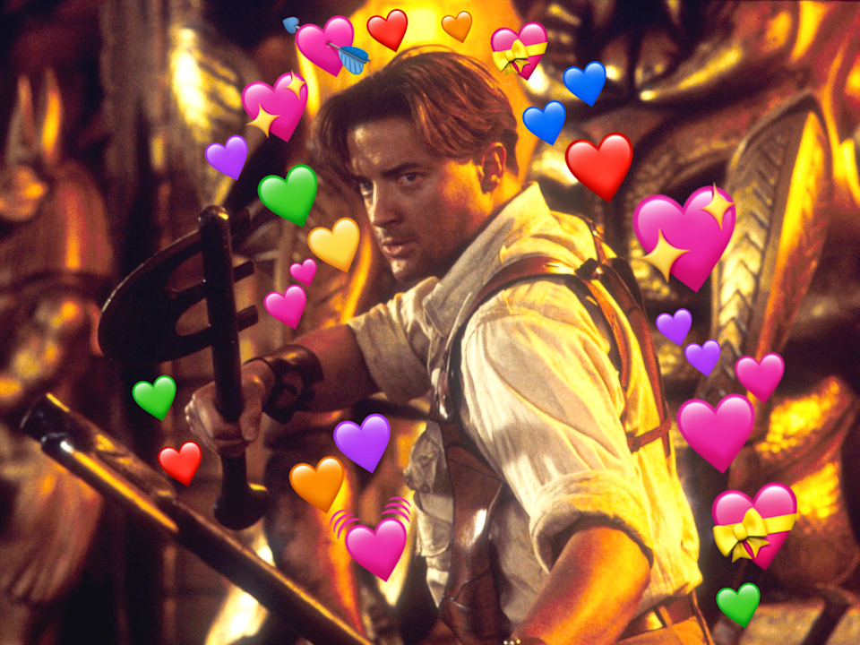 Heart emoji: Brendan Fraser in The Mummy Returns (Keith Hamshere/Shutterstock)