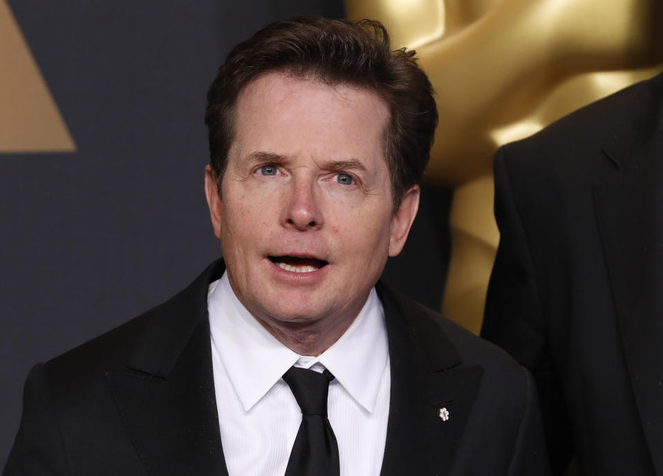 89th Academy Awards - Oscars Backstage - Hollywood, California, U.S. - 26/02/17 – Best Film Editing oscar Presenter Michael J. Fox. REUTERS/Lucas Jackson