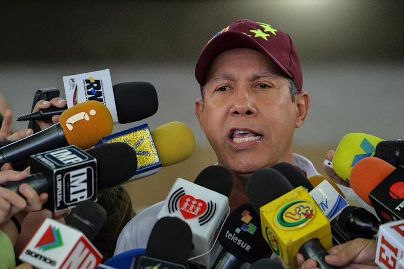 """Falcon said the election lacked lacked """"legitimacy"""" and accused the government of vote buying (AFP Photo/Luis Robayo)"""