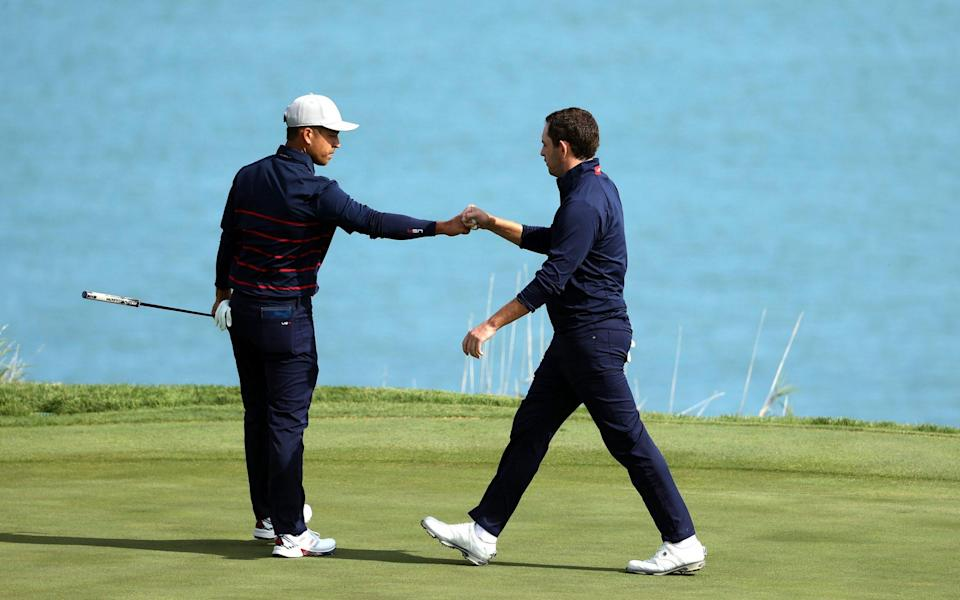 Xander Schauffele and Patrick Cantlay dominated from the get-go - GETTY IMAGES