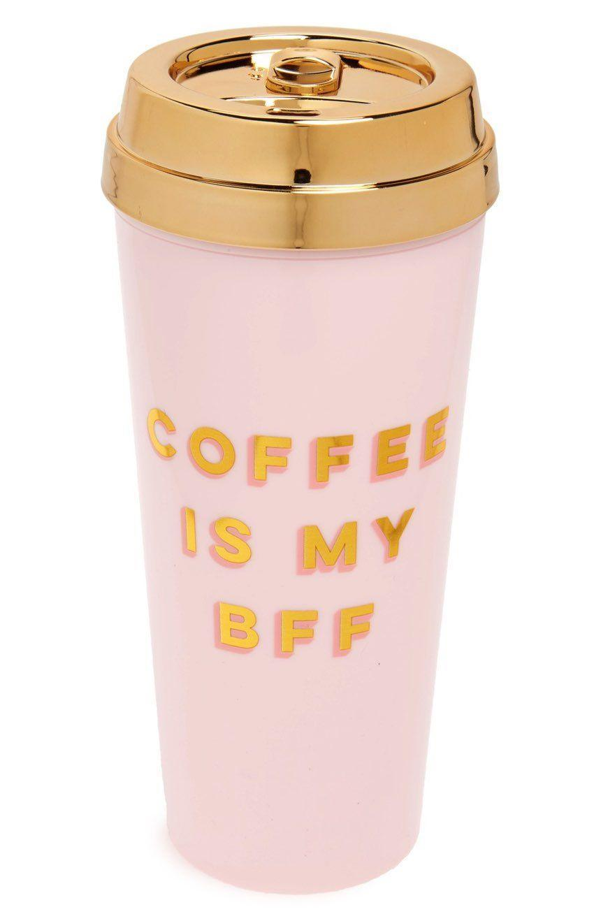 """<p>This pink thermal mug makes a tongue-in-cheek proclamation while keeping your beverage warm.</p><p><strong>Ban.do</strong> BFF Deluxe Thermal Mug, $18, available at <a href=""""https://www.bloomingdales.com/shop/product/ban.do-bff-deluxe-thermal-mug?ID=2515496"""" rel=""""nofollow noopener"""" target=""""_blank"""" data-ylk=""""slk:Bloomingdale's"""" class=""""link rapid-noclick-resp"""">Bloomingdale's</a></p>"""