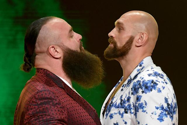 Fury crossed over into the world of WWE last October Photo: Getty Images