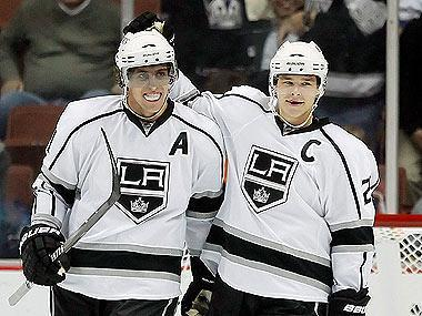 With core players such as Anze Kopitar (L) and Dustin Brown (R), expectations were running high in Los Angeles at the start of the season. Those high hopes and subsequent poor play cost Terry Murray his job