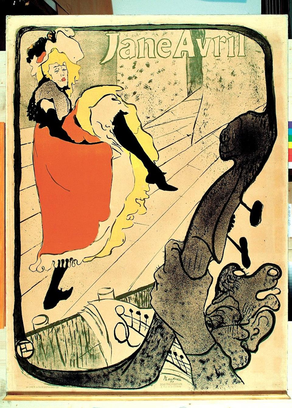 Jane Avril featured heavily in Henri de Toulouse-Lautrec's graphic posters (The Met Museum)