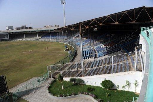 A general view of the National Cricket Stadium of Karachi. Karachi's National Stadium was once a dusty, sweaty hell for visiting cricketers, a cauldron of heat and noise where Pakistan went unbeaten in Tests for more than 45 years. But now, three years after international sides stopped coming to the country in the wake of a deadly militant attack on a Sri Lankan team bus, the stands are silent