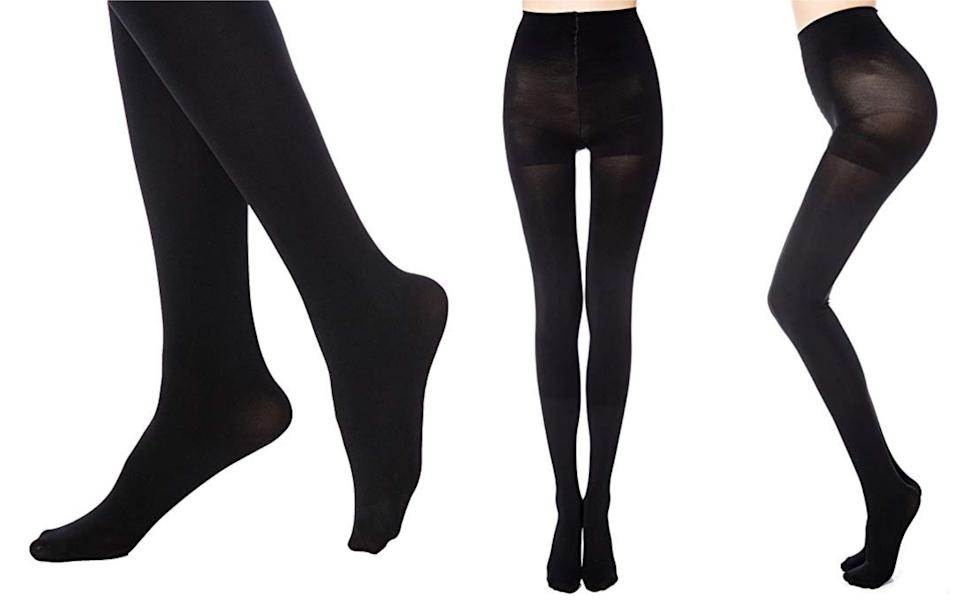 It's official: tights season is well and truly upon us [Photo: Amazon]