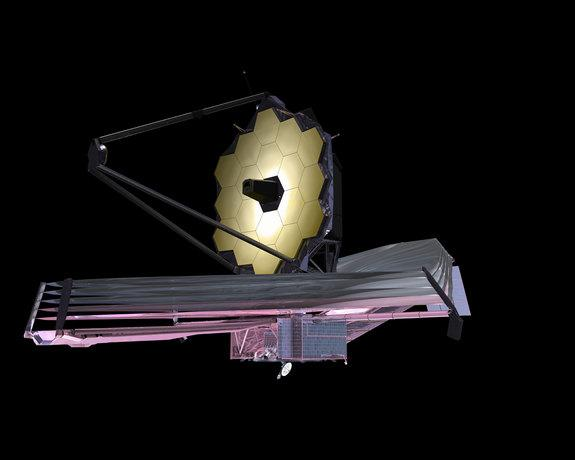 Artist's conception of NASA's James Webb Space Telescope.