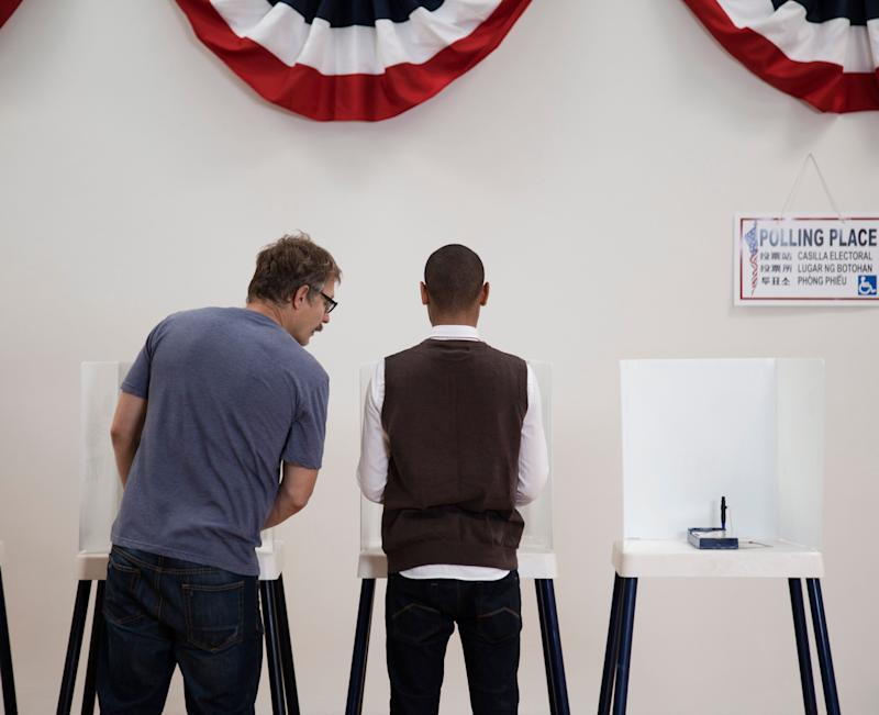 About one-quarter of Democratic and Democratic-leaning voters say they're planning to choose a more electable candidate over their preferred option in next year's primary, a survey finds. (Photo: Hill Street Studios via Getty Images)