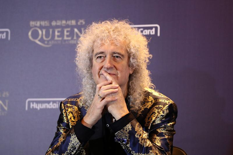 Queen band member Brian May attends a press conference ahead of the Rhapsody Tour at a hotel in Seoul on January 16, 2020. (Photo by Chung Sung-Jun / POOL / AFP via Getty Images)