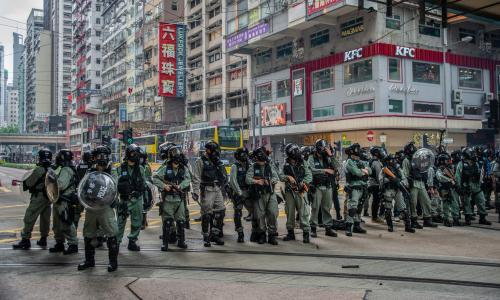 Activists launch London legal action against UK officers in Hong Kong police