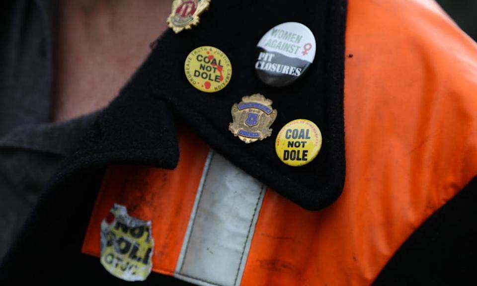 A march through Knottingley in West Yorkshire on 19 December 2015, the day after the closure of the nearby Kellingley Colliery, marking the end of deep-pit mining in Britain.
