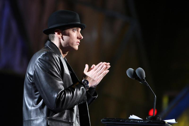 Apology: Eminem admitted he took it 'too far': Getty Images