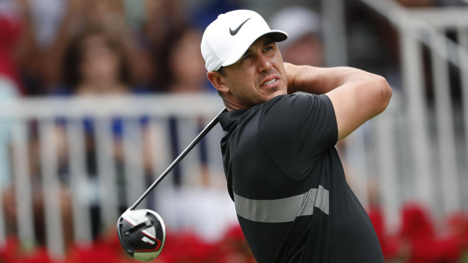 Brooks Koepka explained why he took the opportunity to play a round with Donald Trump. (AP Photo/John Bazemore)