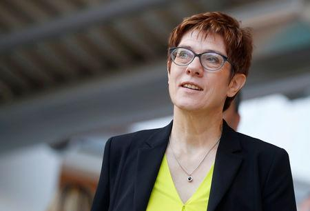 FILE PHOTO: CDU party leader Annegret Kramp-Karrenbauer attends CDU party meeting in Potsdam