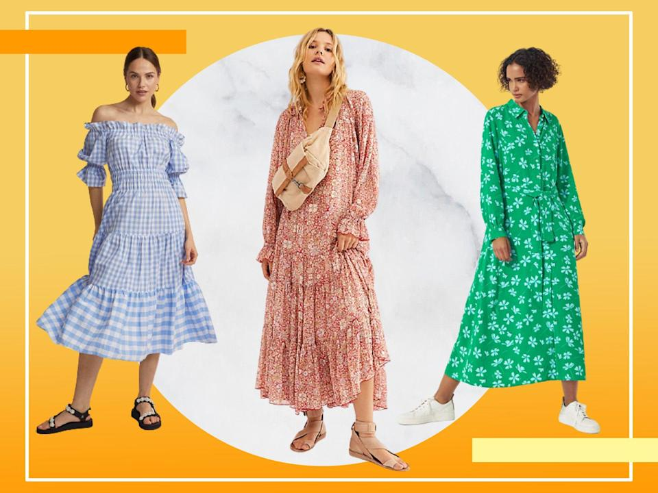 <p>2021 is clearly the year of the smock dress (unsurprisingly as it's basically the dress version of the tracksuit in comfort terms</p> (iStock/The Independent)