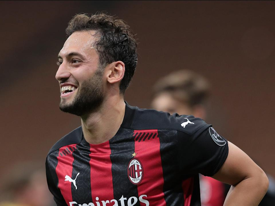 Hakan Calhanoglu is a reported transfer target for Manchester United (Getty)