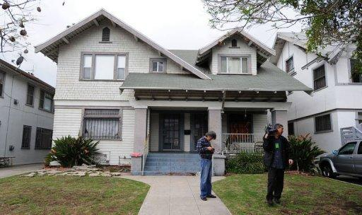 The house where a Chinese student ran for help after he and a fellow student were shot in Los Angeles