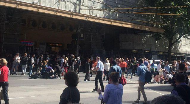 Bystanders rushed to the aid of pedestrians who were struck by the vehicle. Source: 7 News