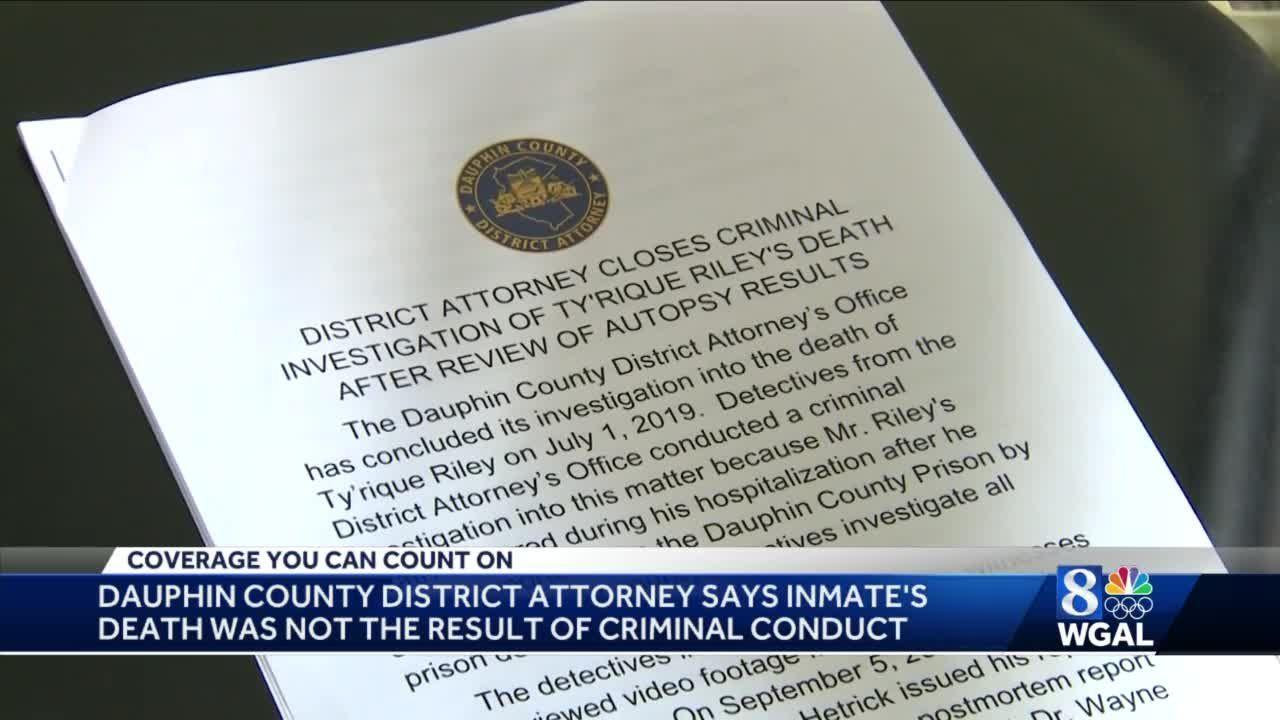 DA: Dauphin County Prison inmate's death wasn't result of criminal conduct