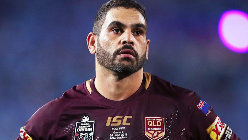 Greg Inglis, pictured here during Game II of the 2018 State of Origin series.