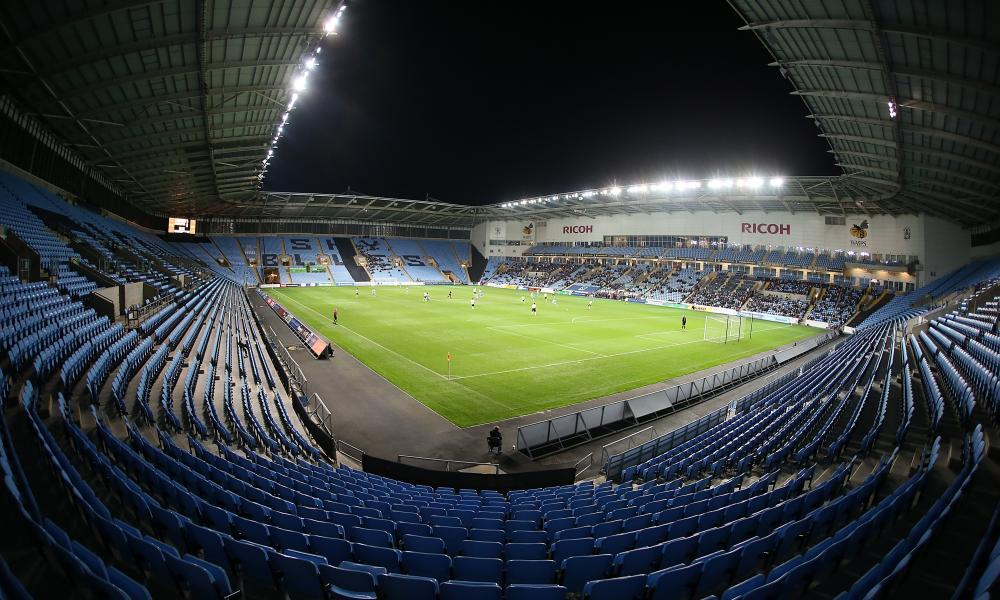 This crowd at the Ricoh Arena for Coventry's match with Northampton Town was far closer to the norm for Checkatrade Trophy attendances.