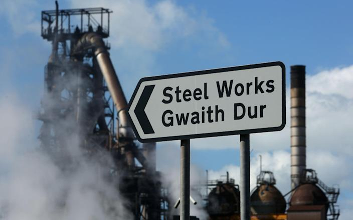 Tata Steel steel plant at Port Talbot, south Wales. - AFP