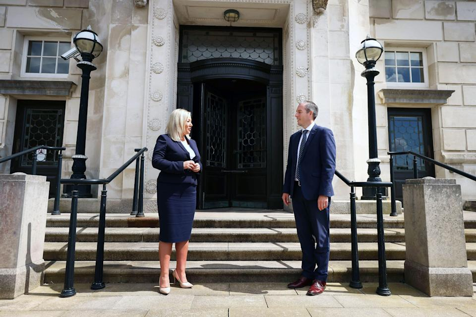 First Minister Paul Givan and deputy First Minister Michelle O'Neill convened the virtual meeting of the Executive on Thursday (Presseye/PA) (PA Media)