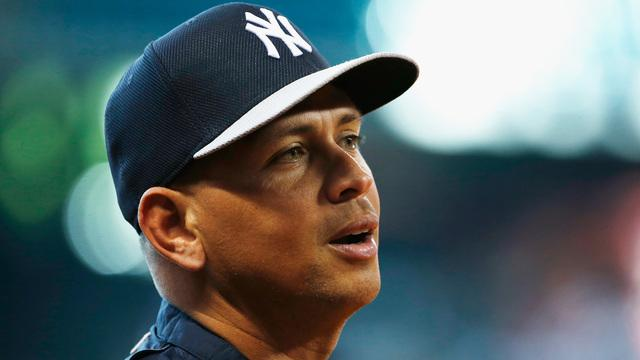 Alex Rodriguez flails in his final, desperate swing