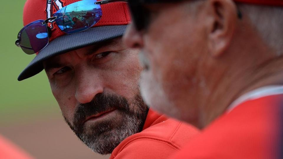 Angels pitching coach Mickey Callaway
