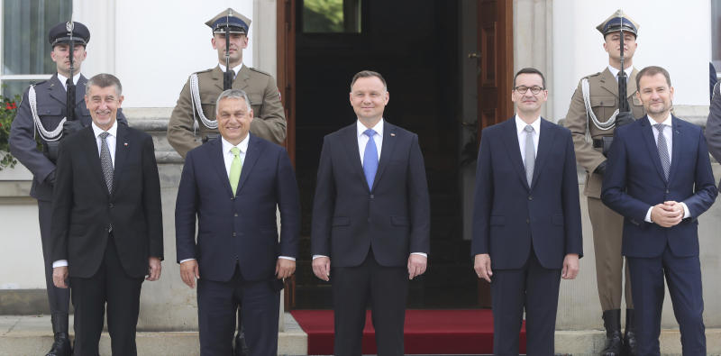 Poland Slovakia Czech Republic Hungary Visegrad 4 Group PM