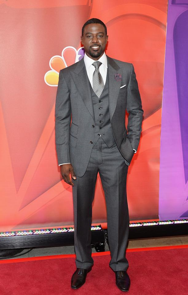 NEW YORK, NY - MAY 13:  Actor Lance Gross attends 2013 NBC Upfront Presentation Red Carpet Event at Radio City Music Hall on May 13, 2013 in New York City.  (Photo by Slaven Vlasic/Getty Images)