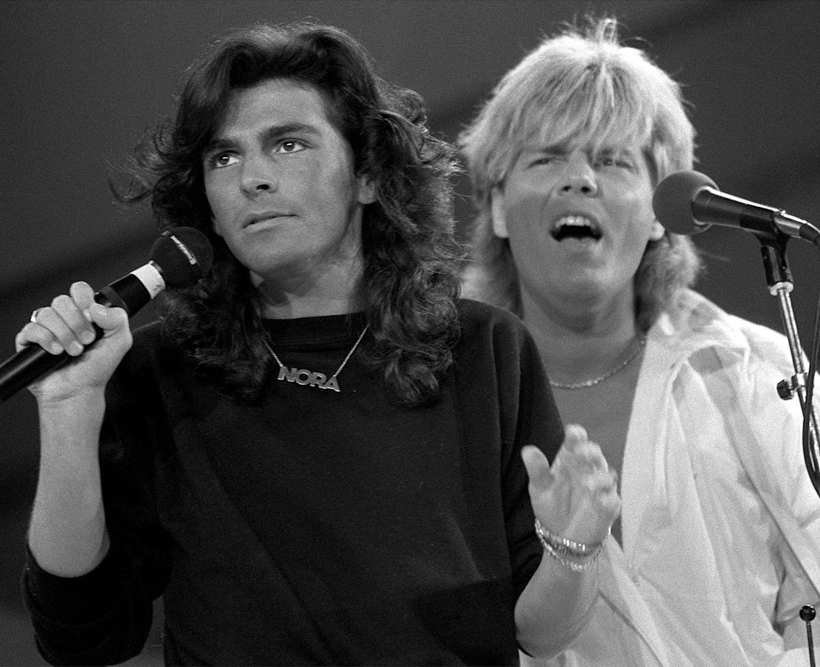 "<p>1983 tat sich Dieter Bohlen dann mit Schlagersänger Thomas Anders zusammen – die beiden gründeten die Band Modern Talking, die mit Hits wie ""You're My Heart, You're My Soul"" großen Erfolg hatte. (Bild: AP Photo) </p>"